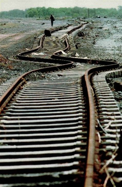 earthquake track railroad track looks like it was hit by an earthquake