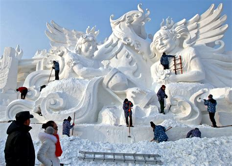 harbin snow and festival 2017 snow skyline china s spectacular and snow sculpture