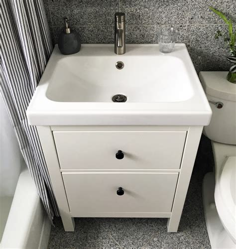 installed  ikea bathroom vanity project palermo