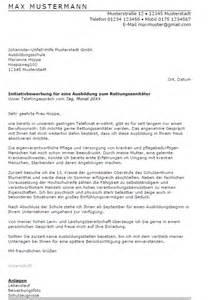 Bewerbung Rettungssanit 228 Ter Ausbildung Sofort Download