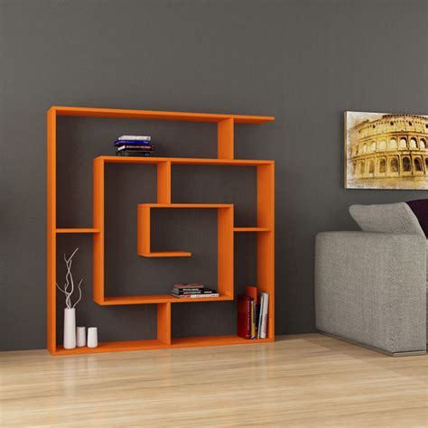 labirent bookcase orange contemporary bookcases