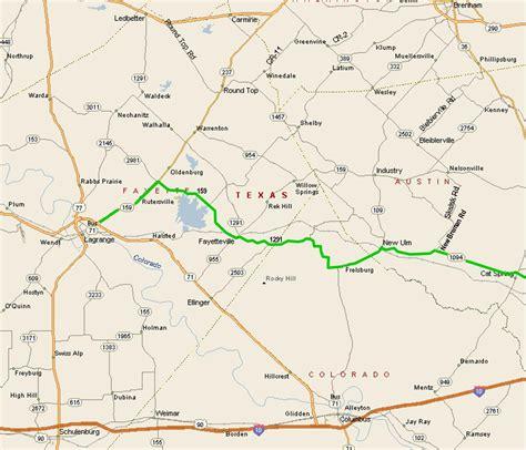 new ulm texas map houston t riders shiner ride