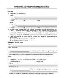 property manager agreement template sle property management agreement 7 documents in pdf