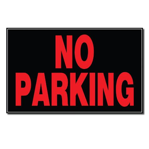 hillman 8 x 12 sign no parking the home depot canada