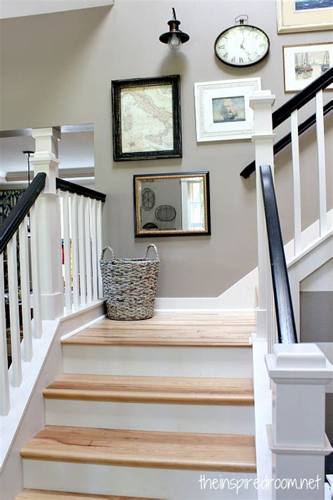 How To Decorate A Cottage Style Home by Hickory Hardwood Flooring And Staircase Makeover