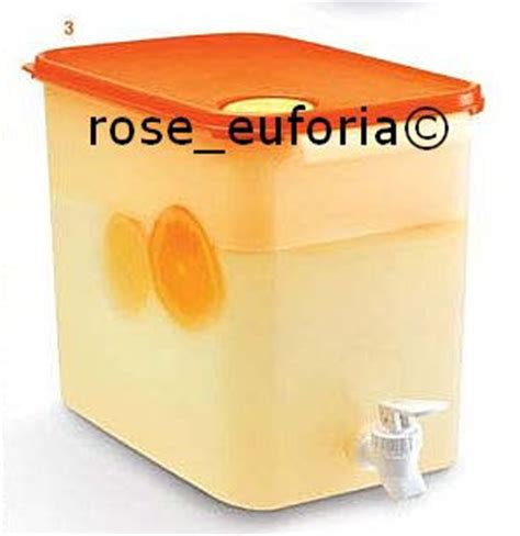 Tupperware Seal Canister 8 7l Tutup rose euforia my tupperware collection tupperware rectangular water container 1 8 7l yellow orange