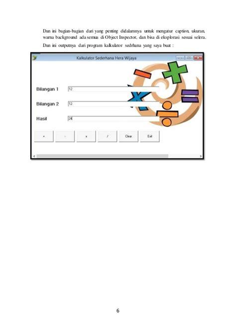 tutorial delphi 7 membuat kalkulator membuat kalkulator sederhana dengan delphi 7