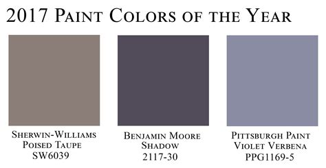 paint colors of 2017 2017 paint colors of the year caldwell cline architects