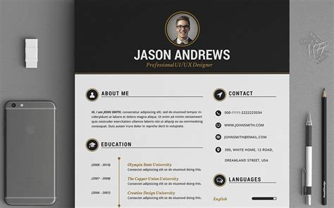 The Best CV & Resume Templates: 50 Examples   Design Shack