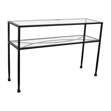 sofa back console 84 off pier 1 pier 1 glass console or sofa back table