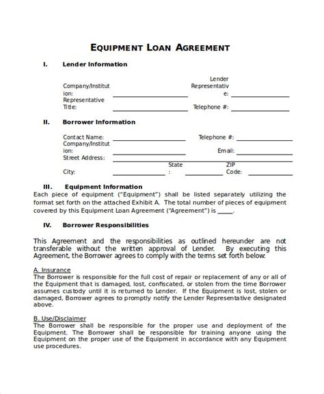 disclaimer agreement template loan agreement template 14 free word pdf document