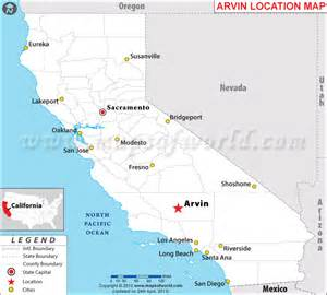 where is arvin california