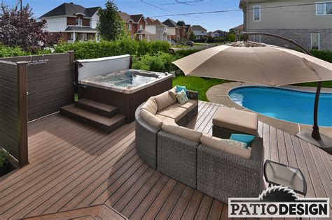patio piscine patio design construction design de patios pour une