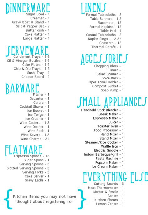 printable wedding gift registry checklist wedding gift registry list printable mini bridal
