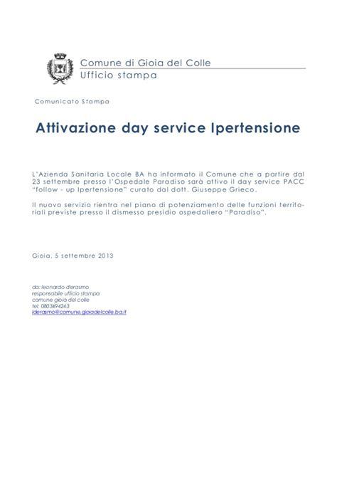 comune di gioia colle ufficio anagrafe comunicato sta day service ipertensione