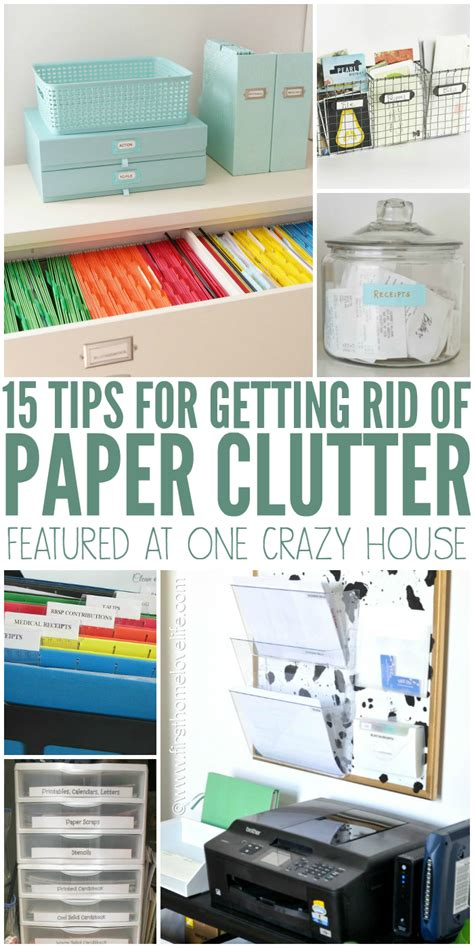 tips for organizing get rid of paper clutter right now