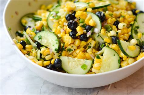 blueberry corn salad a healthy life for me