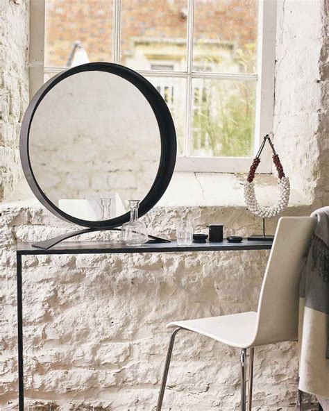 black table top mirror mirrordeco free standing table top mirror black