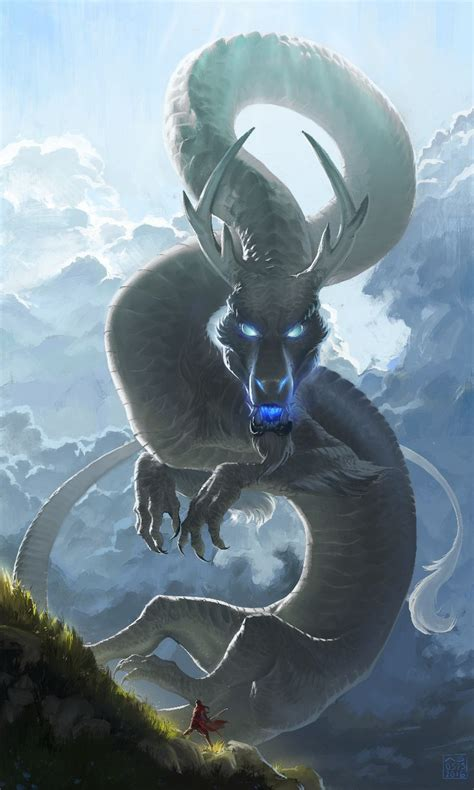 film blue hot blue cold drawn water dragon human pencil and in color drawn water