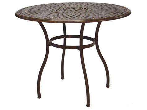 darlee cast aluminum outdoor patio round square bar stool darlee outdoor living series 60 cast aluminum material 52