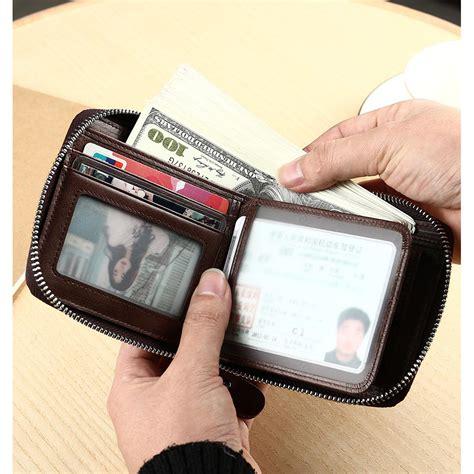 Dompet Pria Bahan Kulit manbang dompet pria bahan kulit mbq3753 brown