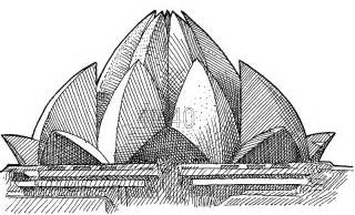 Lotus Temple Drawing Lotus Temple New Delhi Website For Parents