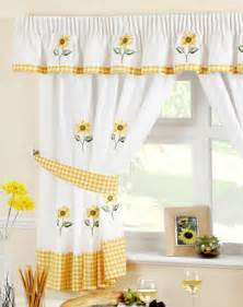 Kitchen Curtains Uk Sunflower Kitchen Curtain Kitchen Curtains Curtains Linen4less Co Uk