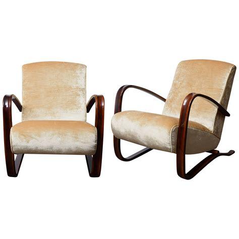 elegant armchairs elegant pair of armchairs by j halabala at 1stdibs