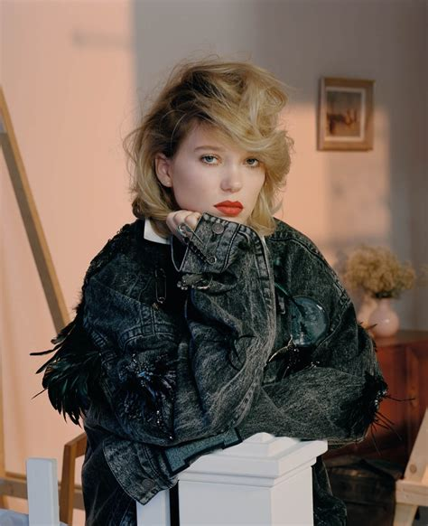 lea seydoux leather jacket lea seydoux poses in charming fall looks for dazed