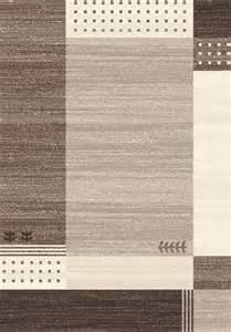 grand tapis de salon beige et marron design coraya