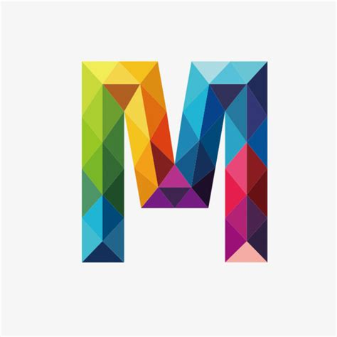 colorful letters colorful letters m letter colorful m png image and