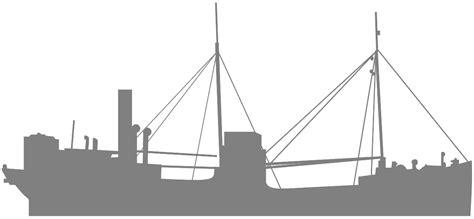 silueta de barcos para colorear silueta barco a vapor contorno y silueta vector