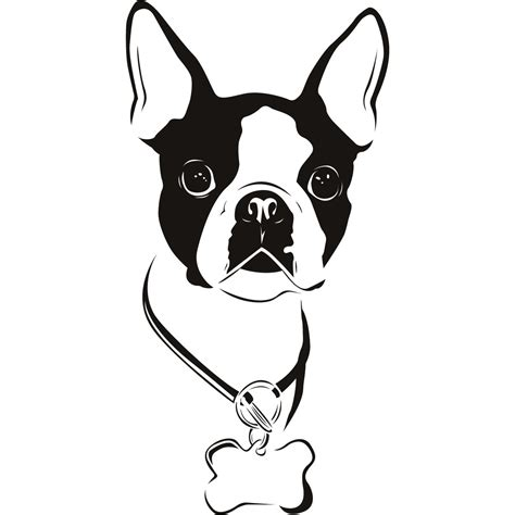 french bulldog clipart vector pencil and in color french