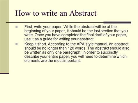 How To Make Paper Presentation Abstract - how to write an abstract for paper presentation 28