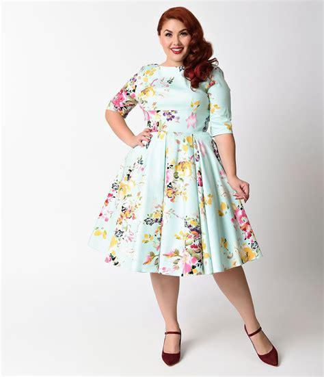 swing kleid mint plus size vintage dresses plus size retro dresses retro