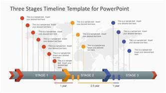microsoft powerpoint timeline template three stages timeline template for powerpoint slidemodel