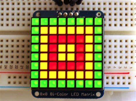 Led Matrix adafruit bicolor led square pixel matrix with i2c backpack