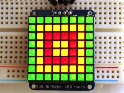 adafruit bicolor led square pixel matrix  ic backpack