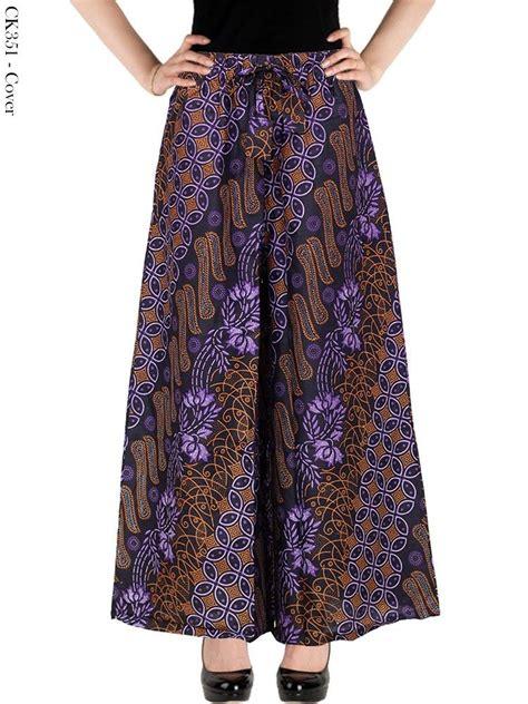 Celana Batik Zr celana kulot batik wanita modern masa kini batik fashion