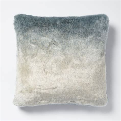 Fur Pillow Cover by Faux Fur Dip Dye Pillow Cover Turquoise West Elm