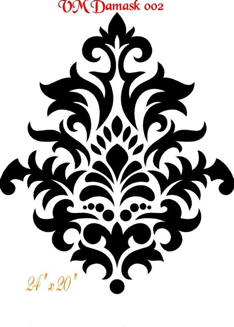 Rgb Stencils Could Really Make A Dramatic Statement Damask Stencil Bing Imagens Pinteres Stencil Template