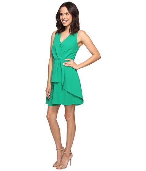 Dress Wanita Curros 7 8 Flare adelyn ruffle fit and flare dress green zappos free shipping both ways