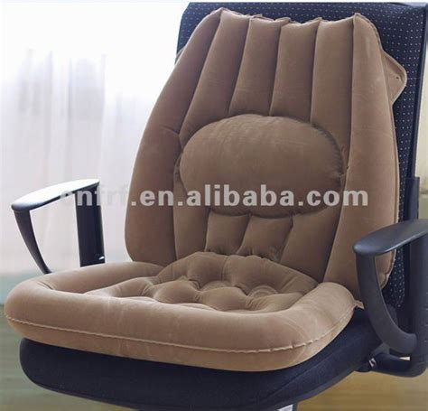 inflatable flocked car seat cushion with large back