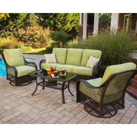 Weatherproof Patio Furniture Sets Patio Conversation Sets Outdoor Lounge Furniture Patio Furniture Outdoors The Home Depot