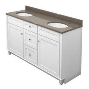 Home Depot Kraftmaid Bathroom Cabinets Kraftmaid 60 In Sink Bathroom Vanity In Dove White