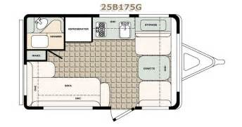 Rv Camper Floor Plans by 2500 Series Travel Trailers Bigfoot Rv Truck Campers