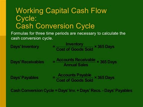 Credit Cycle Formula Working Capital Credit Ar Management