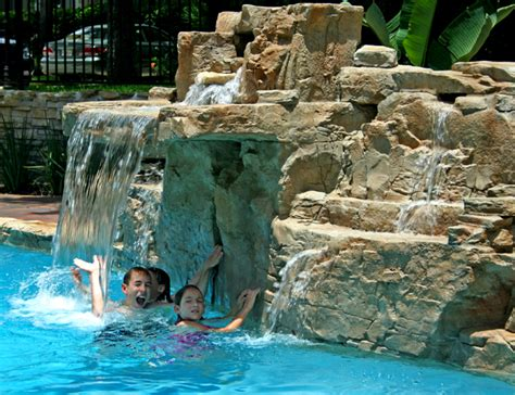 pool waterfalls recent projects ricorock 174 inc