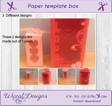 Template Gift Box Template Wine Box With 3 Different Windows Gift Box Svg Wine Glass Box Wine Glass Gift Box Template