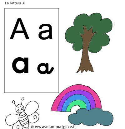 forma parola con lettere da colorare la lettera a mamma felice